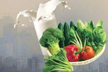 در روزهای آلوده بالاخره شیر بخوریم یا نخوریم؟ / تاکید بر استفاده از سبزیجات و میوه