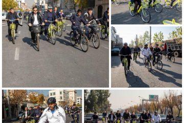 تردد مدیران شهری منطقه۹ بادوچرخه سه شنبه ۱۹آذرماه
