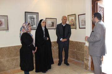 بازدید معاون فرماندار اسلامشهر از نمایشگاه هنر والا
