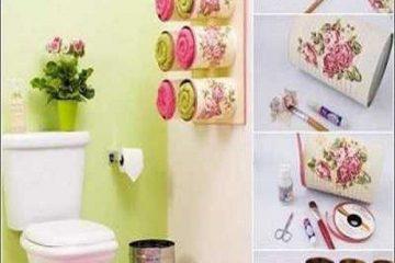 ایده هایی ساده برای تزئین حمام و دستشویی