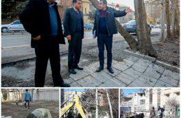 بازدید شهردار همدان از روند پروژه پیاده رو سازی و جدولگذاری بلوار شهید اسلامیان