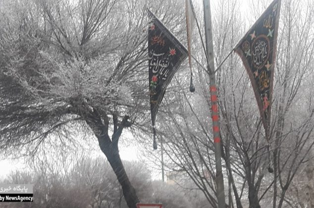 اولین برف زمستانی در اصفهان به زمین نشست