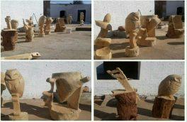 ساخت ۱۵ مجسمه چوبی حاصل ۵ روز کاری در کارگاه زیباسازی