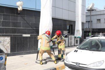 برگزاری مانور زلزله، امداد و نجات و تخلیه اضطراری ساختمان برج بندر بوشهر