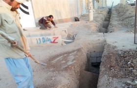 عملیات توسعه شبکه آب چهار کوچه شهر گلدشت در منطقه نجف آباد با اجرای ۴۲۲ متر لوله گذاری انجام گردید