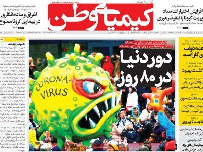 عناوین صفحه نخست روزنامه های امروز اصفهان