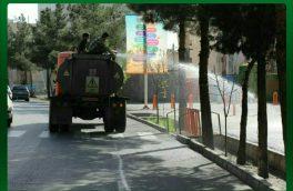 ششمین مرحله ضدعفونی گسترده معابر و محلات شهر سمنان