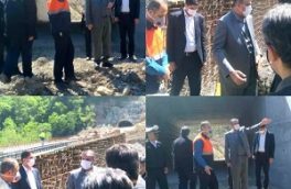 بازدید وزیر راه و شهرسازی از پروژه های در دست اجرا در محور ارتباطی هراز
