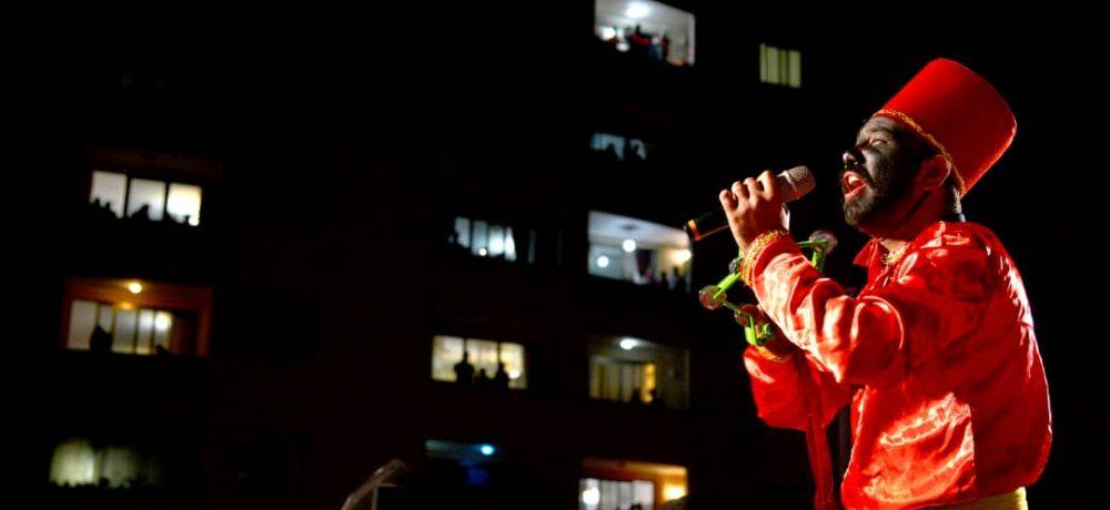 نورافشانی شب نیمه شعبان به روایت تصویر