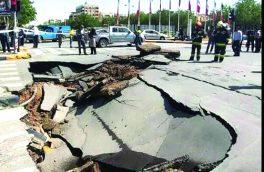 ریزش خیابان میرزاطاهر ارتباطی به فرونشست زمین ندارد