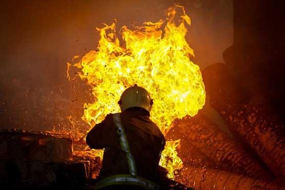 آتش سوزی در شهرک اکباتان